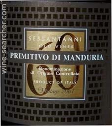 60 sessantanni old vines primitivo