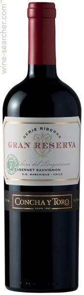 2015 Concha Y Toro Gran Reserva Serie Riberas Cabernet Sauvignon Colchagua Valley Chile