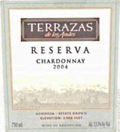 2004 Terrazas De Los Andes Reserva Chardonnay Mendoza