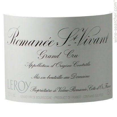 na wyprzedaży zaoszczędź do 80% gdzie kupić Domaine Leroy Romanee-Saint-Vivant Grand Cru, Cote de Nuits, France