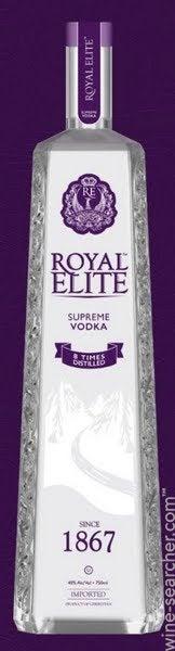 Royal Elite Eight Times Distilled Supreme Vodka   Prices, Stores