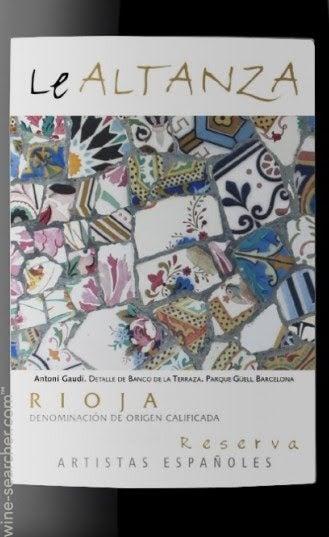 Bodegas Altanza Lealtanza Artistas E Tasting Notes