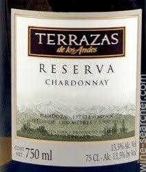 Terrazas De Los Andes Reserva Chardonnay Mendoza Argentina