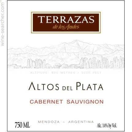 2013 Terrazas De Los Andes Altos Del Plata Cabernet Sauvignon Mendoza Argentina