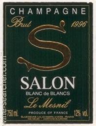 1996 Salon Cuvee \'S\' Le Mesnil Blanc de Blancs, Champagne, France
