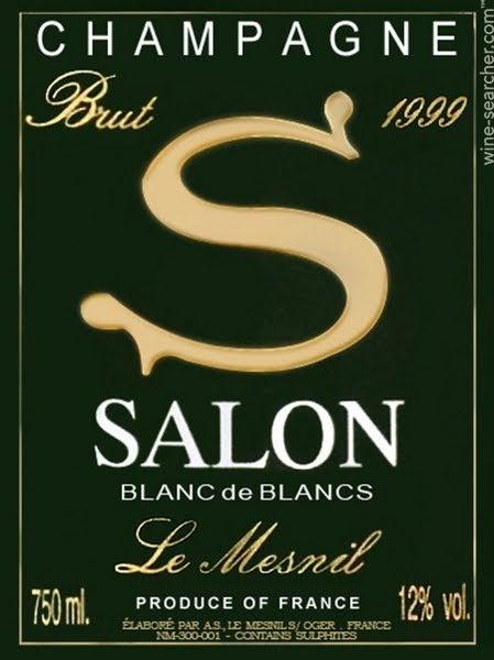 1999 Salon Cuvee \'S\' Le Mesnil Blanc de Blancs, Champagne, France