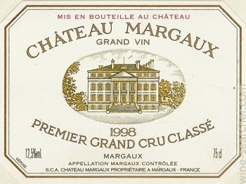 1998 Chateau Margaux, Margaux | tasting notes, market data, prices ...