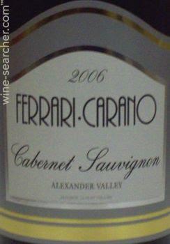 2006 Ferrari Carano Cabernet Sauvignon Alexander Valley Prices Stores Tasting Notes And Market Data