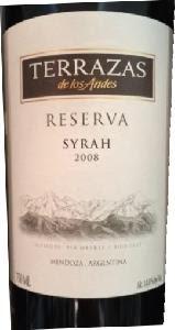 Terrazas De Los Andes Reserva Syrah Mendoza Tasting Notes