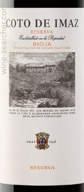 El Coto Coto De Imaz Reserva Rioja Doca Prices Stores Tasting Notes And Market Data