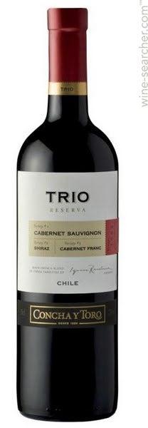 Concha Y Toro Trio Reserva Cabernet Sauvignon Maipo Valley Chile