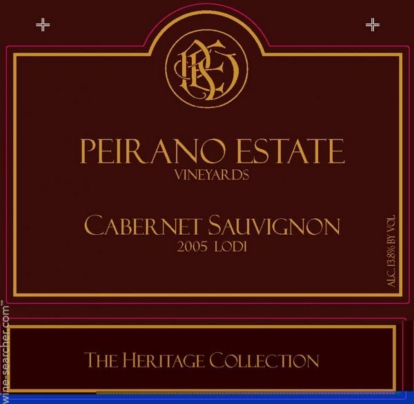 Peirano Estate The Heritage Collection Caberne