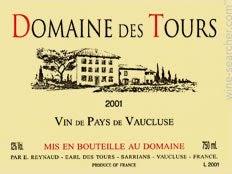Rayas Domaine des Tours Reserve Rouge, IGP Vaucluse, France
