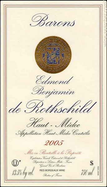 Barons Edmond Benjamin De Rothschild Haut Medoc Prices Stores Tasting Notes And Market Data