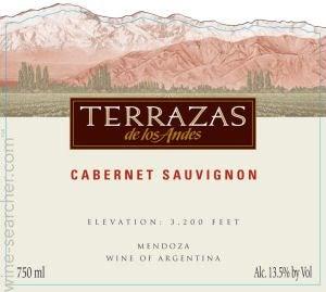 2015 Terrazas De Los Andes Reserva Cabernet Sauvignon Mendoza Argentina