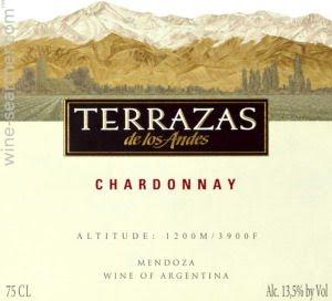 2014 Terrazas De Los Andes Chardonnay Mendoza Argentina