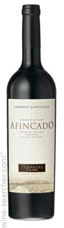 Terrazas De Los Andes Afincado Single Vineyard Los Aromos Cabernet Sauvignon Perdriel Argentina