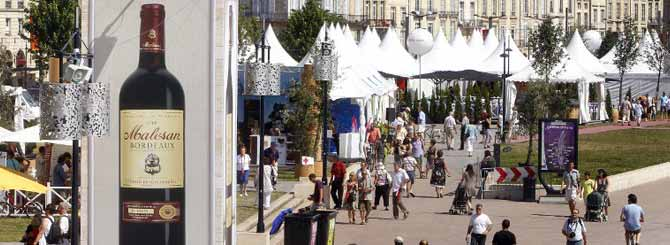 The Fête du Vin in full-swing in the southwestern city of Bordeaux, France