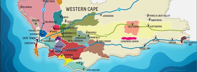 south africa wine region map South African Winemakers Call For Regional Shake Up Wine south africa wine region map
