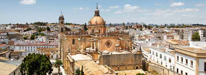 Jerez in Spain, the home of sherry production
