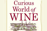"L-R: A traditional toast carried wine from one glass to another; ""The Curious World of Wine""; author Richard Vine"