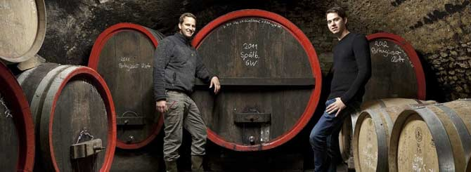 A visit to pinot noir producers Johannes and Christoph Thörle is included in the tour