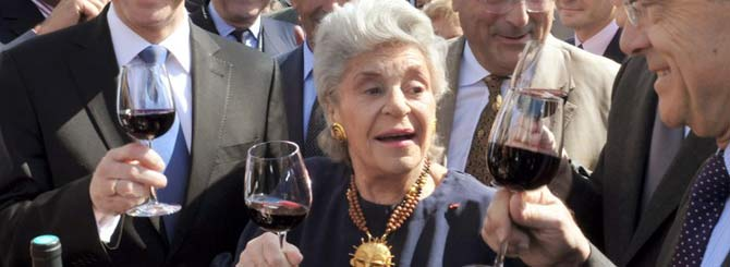 Baroness de Rothschild pictured at Vinexpo in 2011