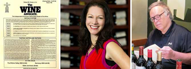 The original Wine Advocate newsletter: Lisa Perrotti-Brown; Robert Parker